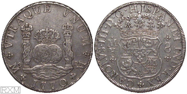 Spanish America Eight Reales 1770 Mexico City