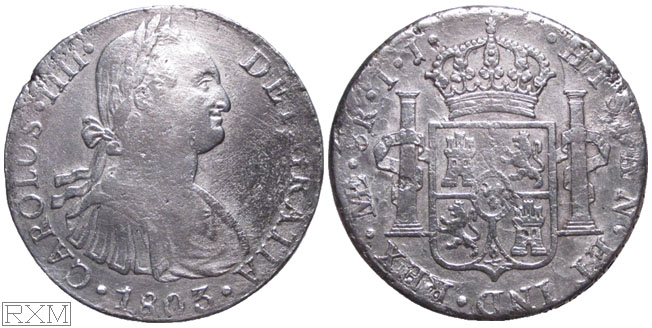 Spanish America Eight Reales 1803 Lima