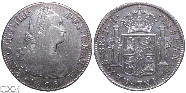 Spanish America Eight Reales 1806 Mexico City