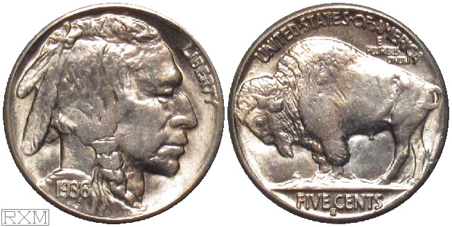 United States 5 cents 1936-S