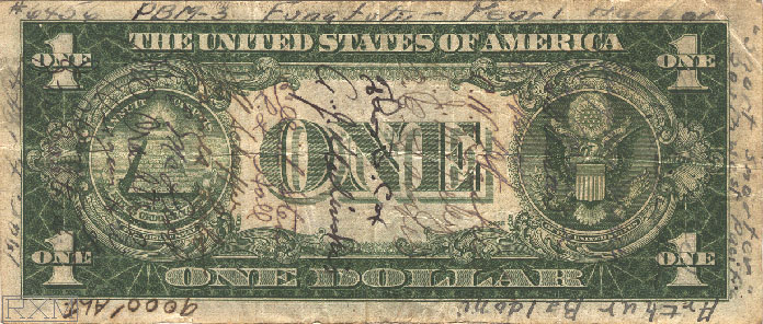 Paper Money United States dollar signed