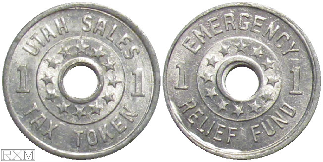 Tax Token Utah Aluminum Relief One