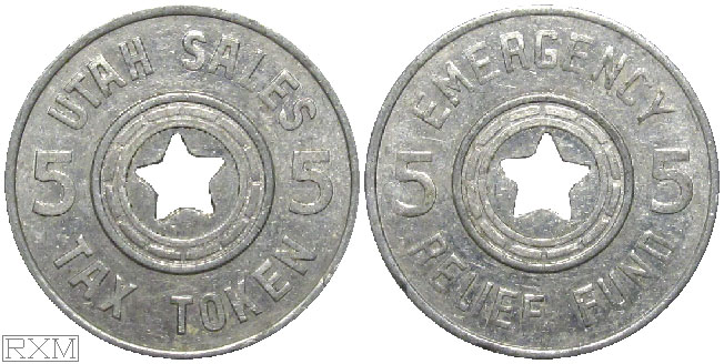 Tax Token Utah Aluminum Relief Five
