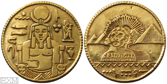 Egyptian Magic Coin gold plated
